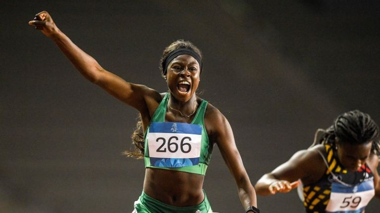 Irish teen wins gold for the 100m sprint at the Youth Olympics