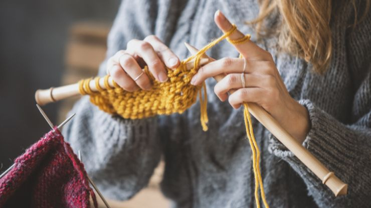 Turns out knitting is really good for us so we have a new hobby