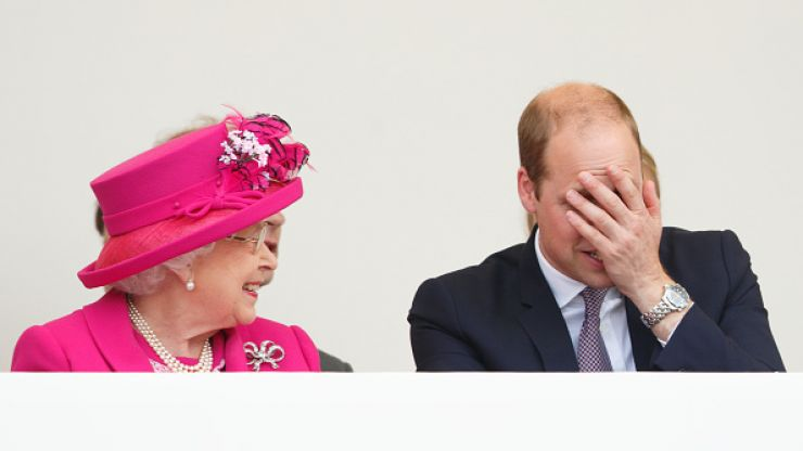 This video of Queen Elizabeth chasing after a young Prince William is grandma goals