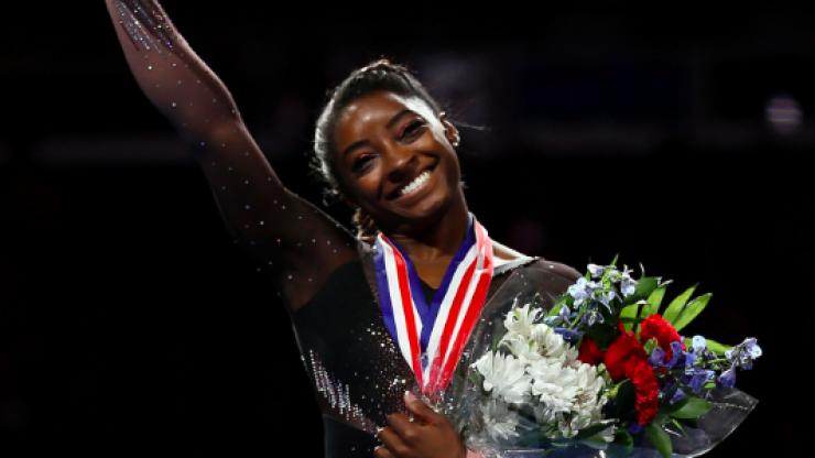 Simone Biles has won her sixth national all-around title