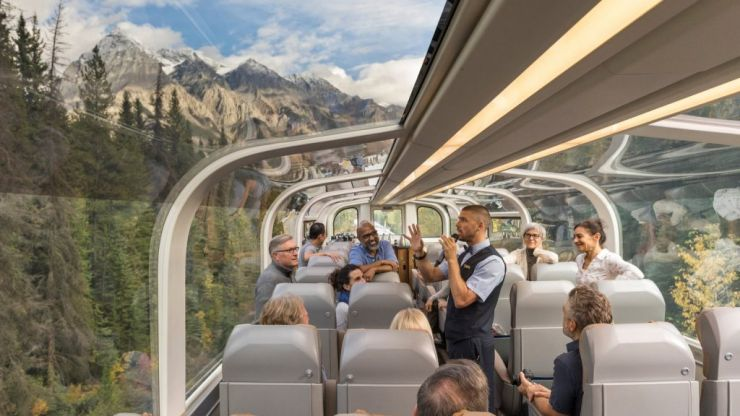 You can now travel through the Canadian Rockies in a glass train