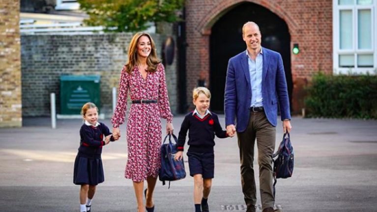 Kate Middleton said the cutest thing to Princess Charlotte on her first day of school yesterday