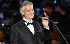 Italian opera singer Andrea Bocelli has announced a huge gig in Dublin