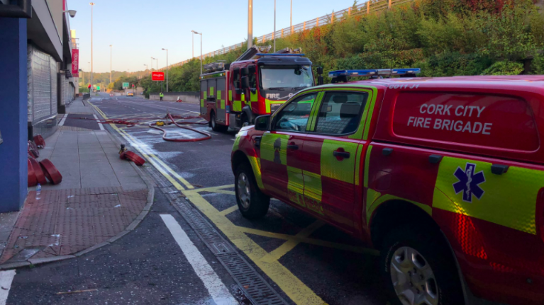 Local fire brigade share images from aftermath of car park blaze in Cork