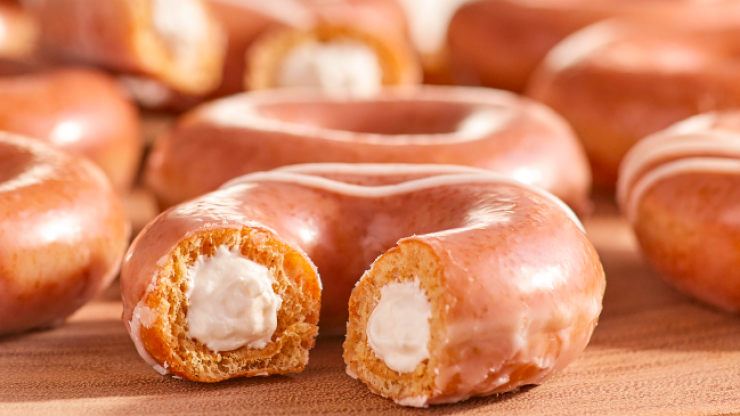 Pumpkin spice cheesecake Krispy Kreme donuts are a thing and holy sweet mother of God