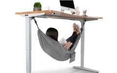 You can buy a hammock that goes under your desk at work and we need one ASAP