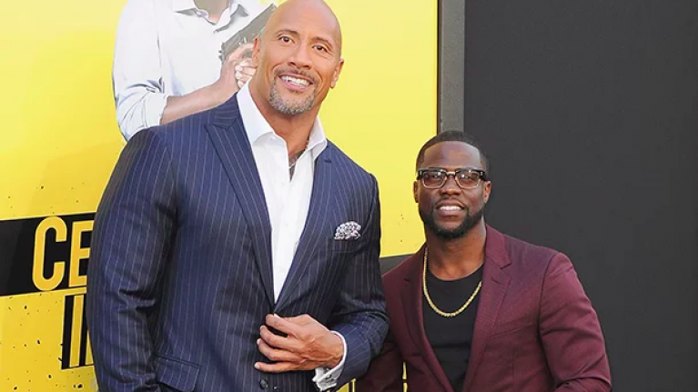Dwayne Johnson gives an update on Kevin Hart after his car accident