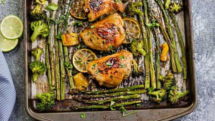 5 easy, peasy sheet one pan dinners that practically make themselves