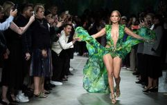 Jennifer Lopez just walked the Versace runway in a recreation of THAT Grammy's gown