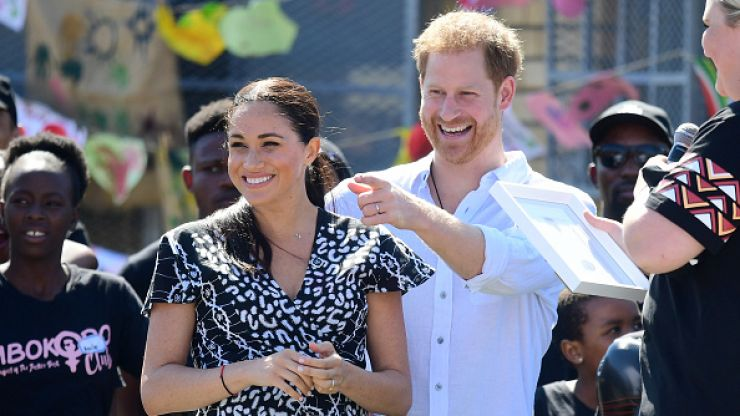 Meghan and Harry are wearing matching bracelets in Africa, and they have a special meaning