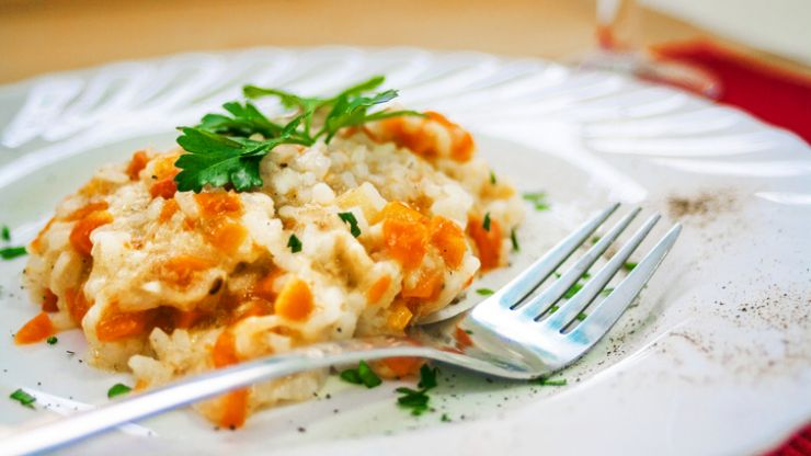 This butternut squash risotto is perfect for dinner AND to box up for lunch too