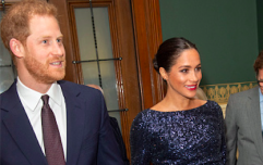 Prince Harry couldn't stop holding Meghan Markle's hand in this sweet video from last night