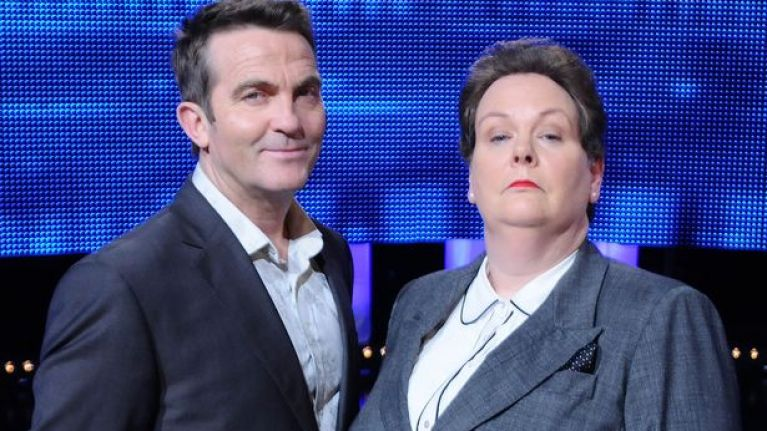Bradley Walsh scolded Anne Hegerty last night for making an inappropriate joke on The Chase