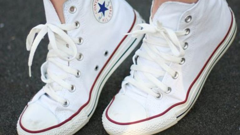 This hack for cleaning dirty white Converse has made our lives a whole lot easier