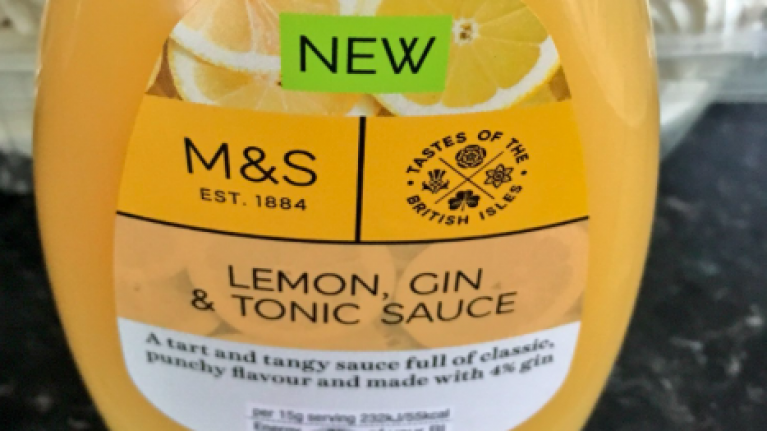 M&S just released a lemon GIN and tonic syrup for Pancake Tuesday and eh, hiya