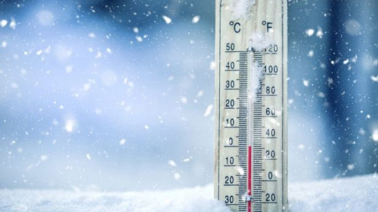 Met Éireann have issued a snow-ice warning for one county