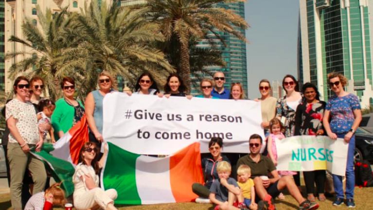 Irish nurses around the world are asking for 'a reason to come home'