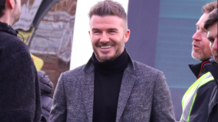David Beckham was joined by his body double to film new advert and they look scarily similar