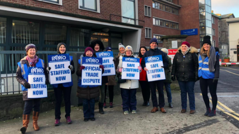 Over 35,000 nurses and midwives begin 24 hour strike for better pay and conditions