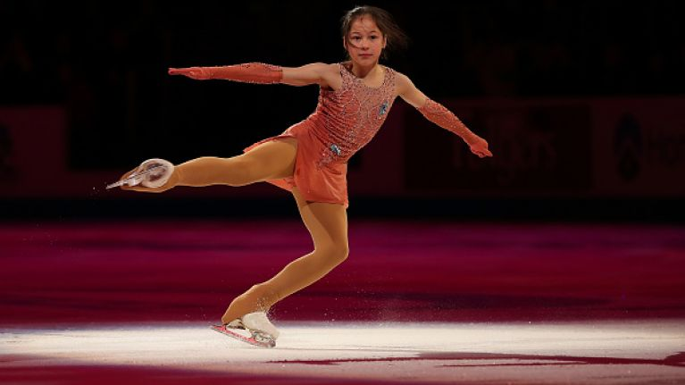A 13-year-old girl has made history by becoming the youngest ever US skating champ