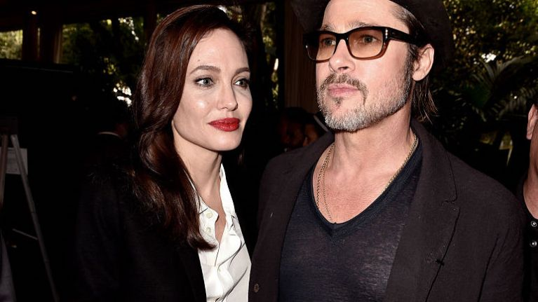 Brad Pitt and Angelina Jolie spotted together for first time in two years