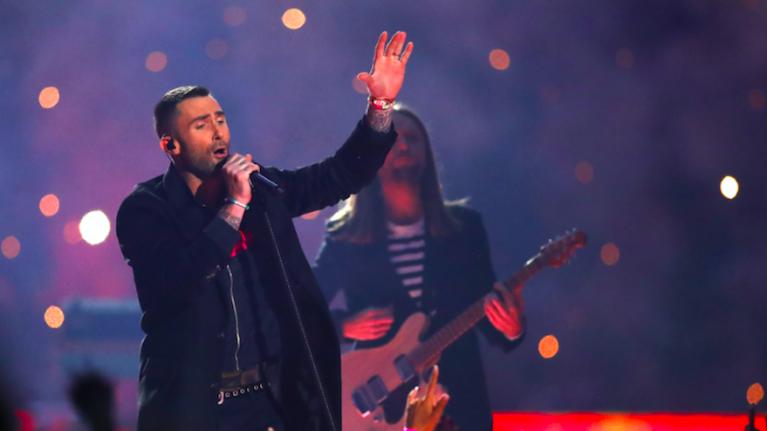 Adam Levine responds to critics after Maroon 5's Super Bowl performance