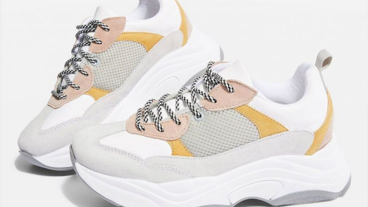 Topshop has reduced its chunky trainers to €20 so GO, GO, GO