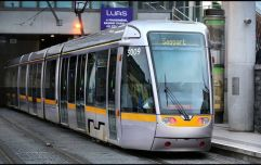 A woman has died after being struck by a Luas tram this morning