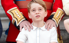 The side by side image that shows how alike Prince George and Prince Louis are