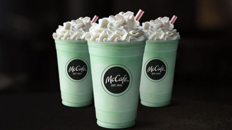 The Shamrock Shake from McDonald's is BACK, and we're only delighted