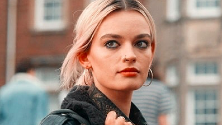 Sex Education's Emma Mackey looked unrecognisable at LFW over the weekend