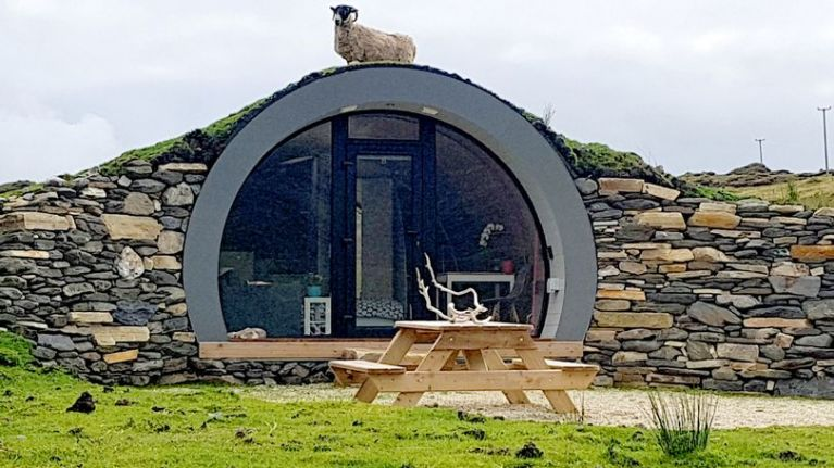 If you're looking for a gorgeous getaway, this Hobbit pod in Donegal is so cheap