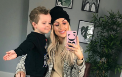 Rosie Connolly just shared an adorable snap of her son meeting his new baby sister