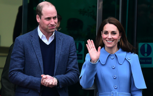 Kate Middleton and Prince William shared a very rare PDA moment at Kensington Palace