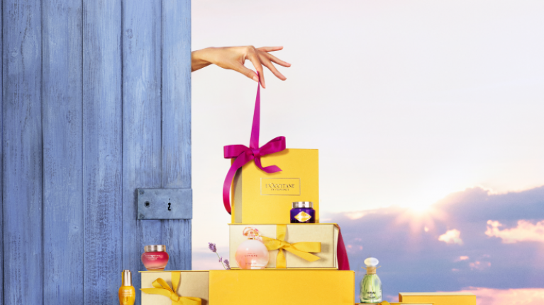 We have four L'Occitane gift boxes to GIVE AWAY for Mother's Day