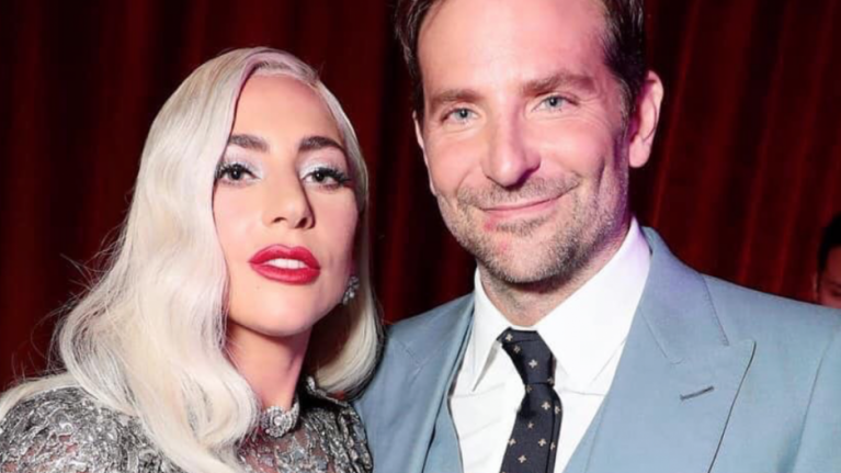 Fans are getting VERY excited over a photo of Bradley Cooper with lipstick on his face