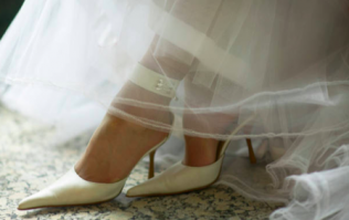 Bride finds emotional message from her dying mum on her wedding shoes