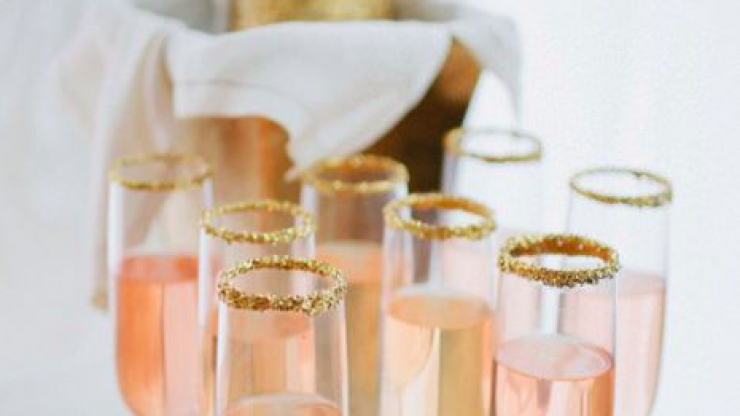 Rose gold glitter prosecco exists and we need to try it immediately