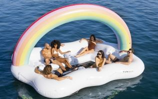 A pool float that the entire squad can chill on is here and we're screaming for summer