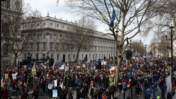 'One million protesters' march through London to demand second Brexit referendum