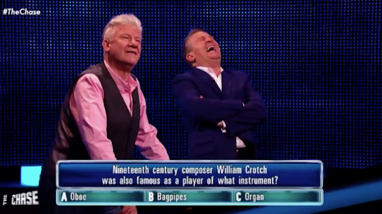 Bradley Walsh absolutely lost it over a question on The Chase last night