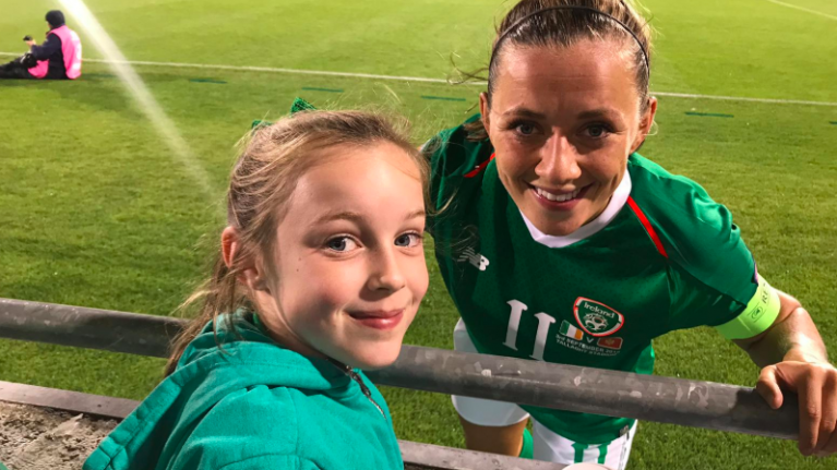 The eight-year-old football fan who's so passionate about the Irish team, she went viral