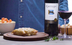 The perfect wine pairing to team with baked brie puff pastry recipe on your next girls night in