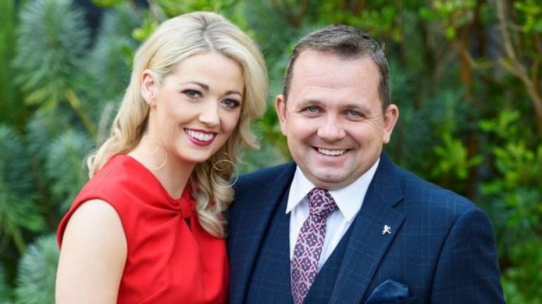 Wexford hurling manager Davy Fitzgerald got married this weekend, and his bride's dress was STUNNING