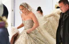 Jennifer Lopez was spotted wearing the most stunning bejewelled wedding dress in New York City