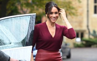 Meghan Markle just wore the red leather skirt of our actual dreams