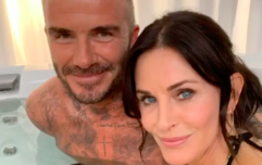 Courteney Cox and David Beckham are sharing a hot tub, and other things you definitely needed to see today