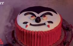 Bram Stoker Dracula Cookie Smash Cake recipe