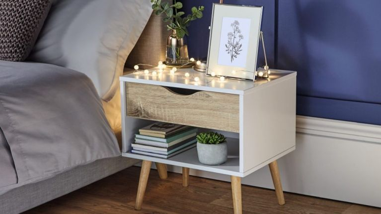 This Scandi chic beside locker is stylish and practical - and it's only €60