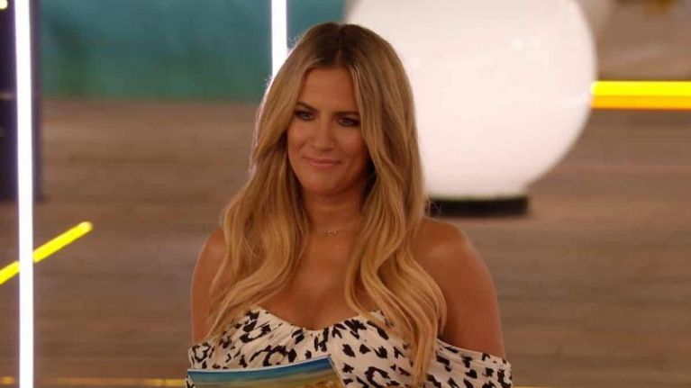 Caroline Flack doesn't sound too happy about returning to the villa for winter Love Island